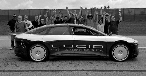 Fully unleashed Lucid Air prototype hits 235 mph during testing