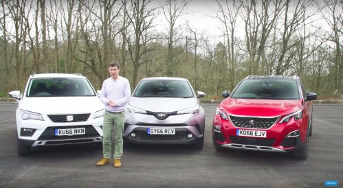 SEAT Ateca challenged by Peugeot 3008 and Toyota C-HR in new review