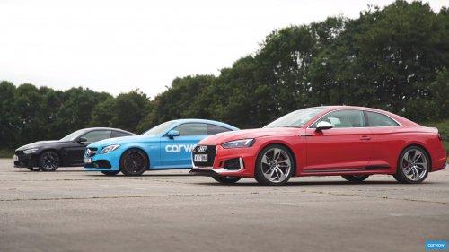 Audi RS5 v BMW M4 v Mercedes-AMG C63S Drag and Rolling Race