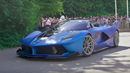 Passenger ride in extreme Ferrari FXXK results in screams and silly faces