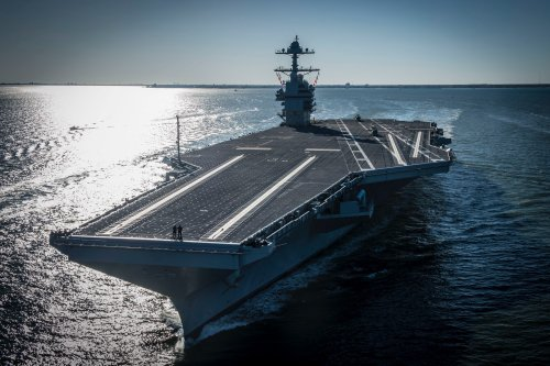 USS Gerald R. Ford aircraft carrier commissioned