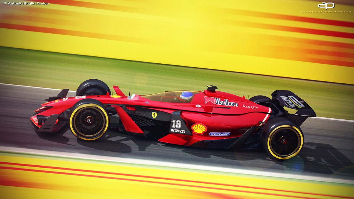 & Artist envisions awesome futuristic F1 racing cars from 2025