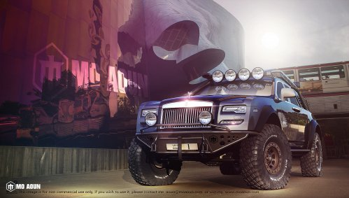 Before Cullinan, check out this Rolls Royce Ghost serious off-roader rendering