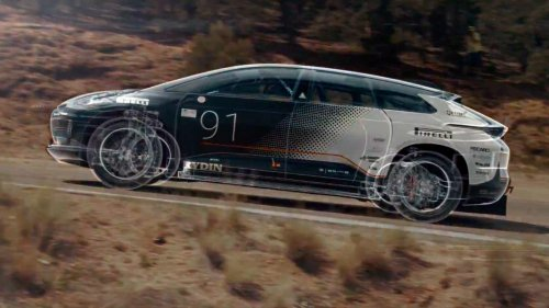 Faraday Future's 1,050-hp EV takes on Pikes Peak, stumbles a bit