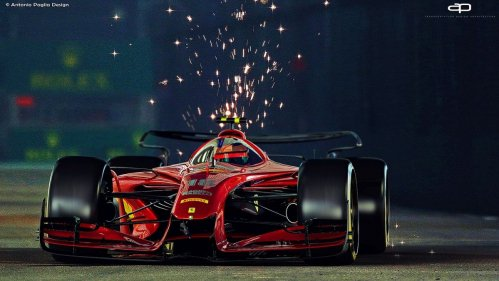 Artist envisions awesome futuristic F1 racing cars from 2025