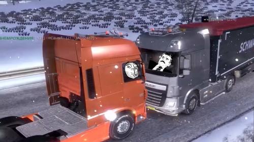Euro Truck Simulator 2 multiplayer looks like hilarious fun
