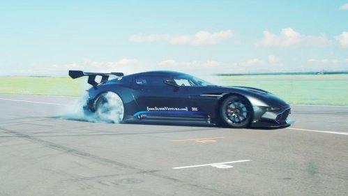 Handling the Aston Martin Vulcan looks like serious arm workout