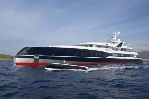 Unusual superyachts: 2008 Feadship Predator - the first axe-bow for the Dutch builder