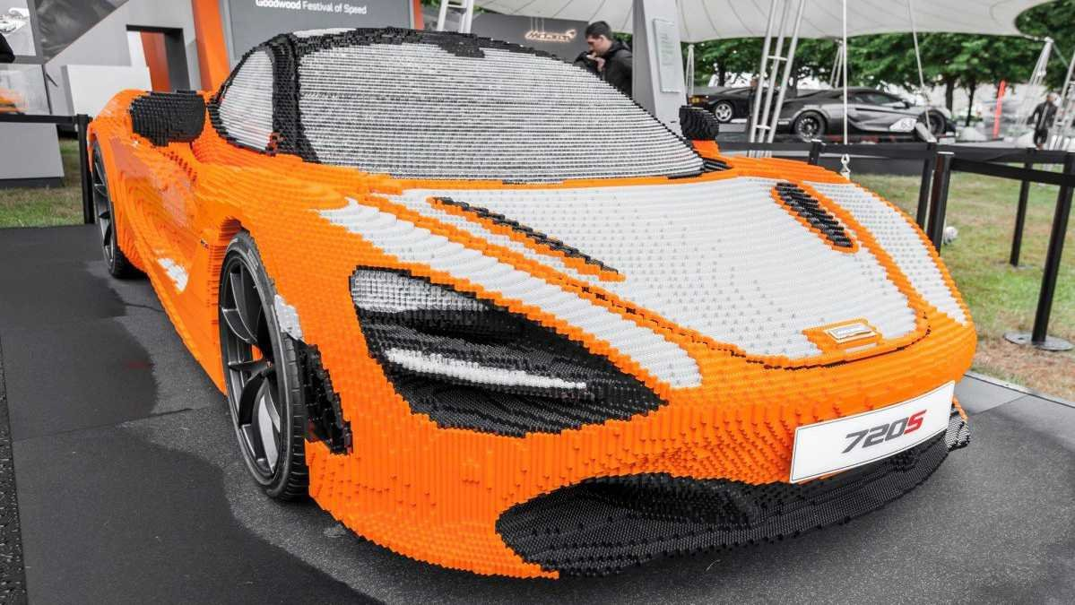 this is what goes into building a full-size lego mclaren 720s