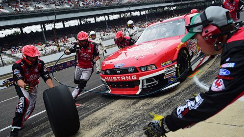 A 12-second NASCAR pit stop is a choreographed dance against the clock