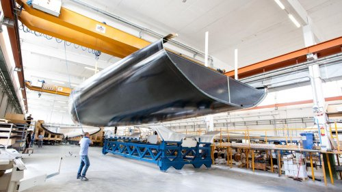 Wally 93 custom sailing yacht is under construction