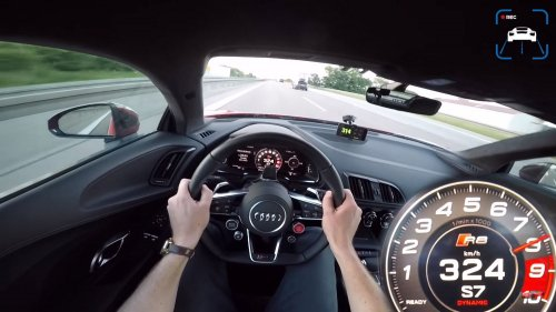 Going 201 mph in an Audi R8 V10 on the Autobahn is something to behold