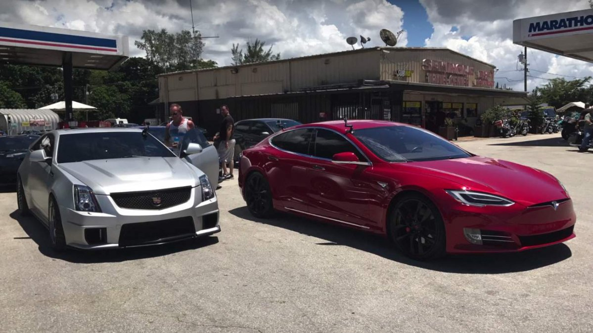 Is this 1,000-hp Cadillac CTS-V a match for Tesla's Model S P100D?