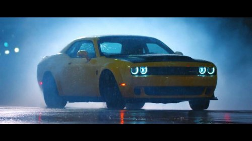 Pennzoil engages Its Unholiness Dodge Demon in eye candy ad