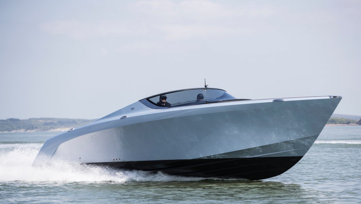 Quintessence Yachts and Aston Martin have delivered the first AM37 powerboat
