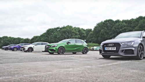 Audi RS3, Merc A45 AMG battle it out against Civic Type-R, Focus RS, Golf R