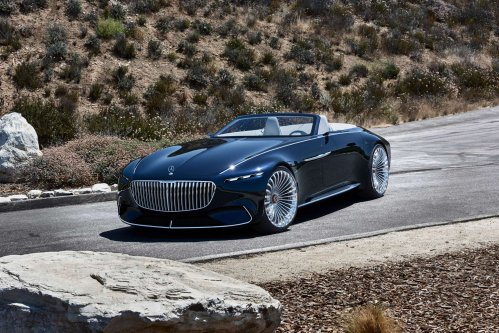 Vision Mercedes-Maybach 6 Cabriolet parades glamour in Pebble Beach