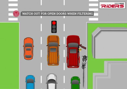 Riding Essentials - Traffic dangers infographic