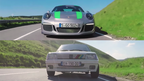 Which is the better driver's car: Porsche 911R or the classic Peugeot 205 Rallye?