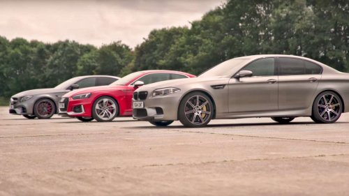 Germany's top dogfight: Mercedes-AMG E 63 S drag races BMW M5 and Audi RS 5