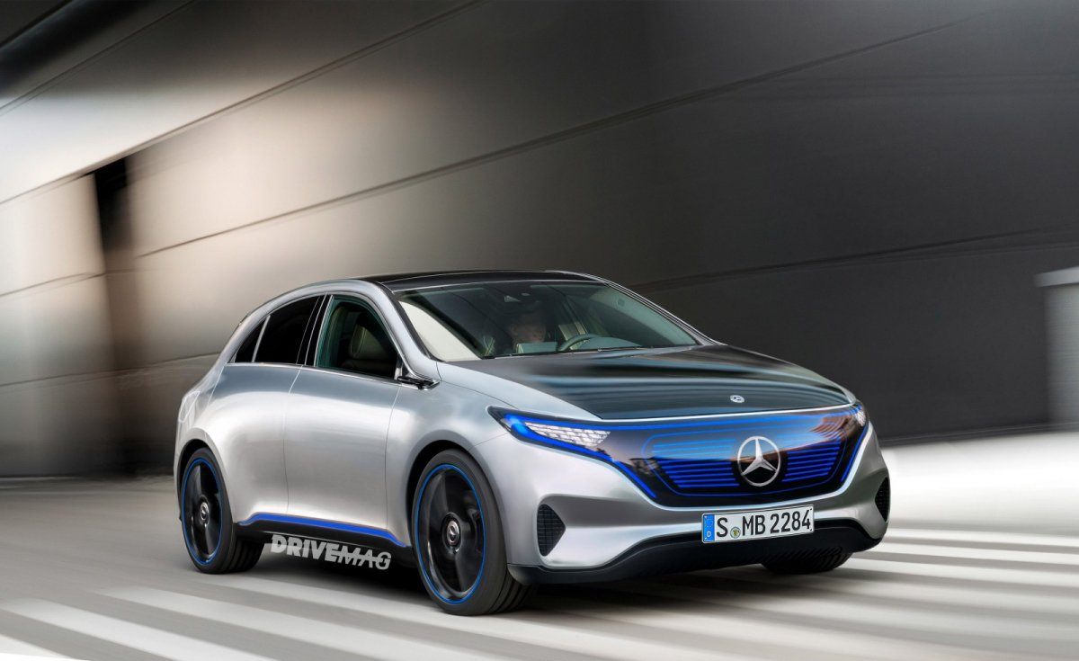 Mercedes benz teases frankfurt bound eq a electric concept for Mercedes benz frankfurt