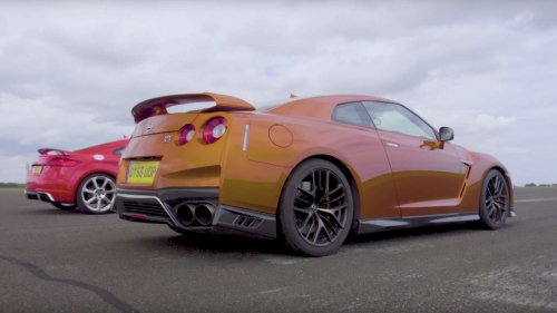 Is the Audi TT RS tough enough to challenge the Nissan GT-R to a drag race?