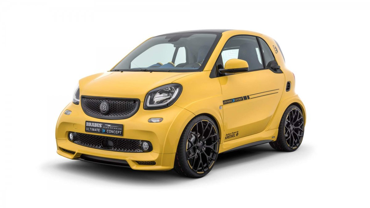 Smart Fortwo Electric joins big boys club as Brabus Ultimate E Concep...