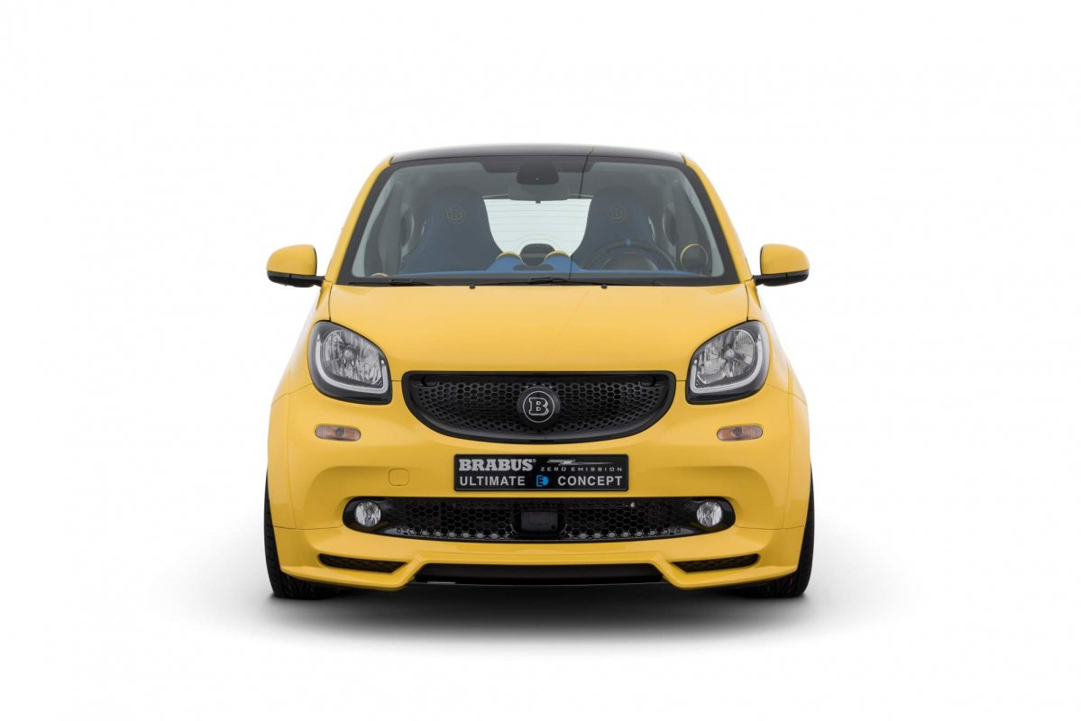 Smart fortwo electric joins big boys club as brabus ultimate e concept