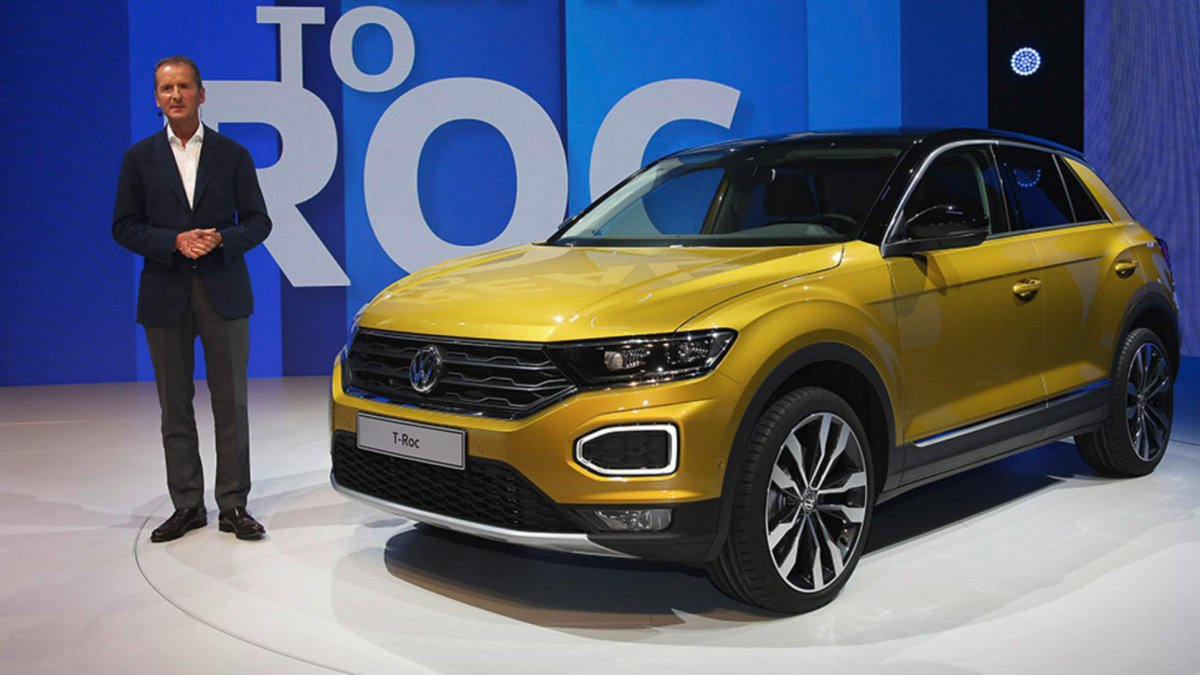 vw makes new t roc baby crossover appear sportier with r line packs. Black Bedroom Furniture Sets. Home Design Ideas
