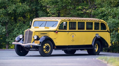 Classic 1937 Yellowstone park bus is up for sale