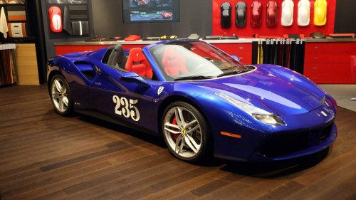 "Ferrari 488 Spider ""Heartthrob"" pays tribute to playboy-owned 1954 Ferrari Mondial"