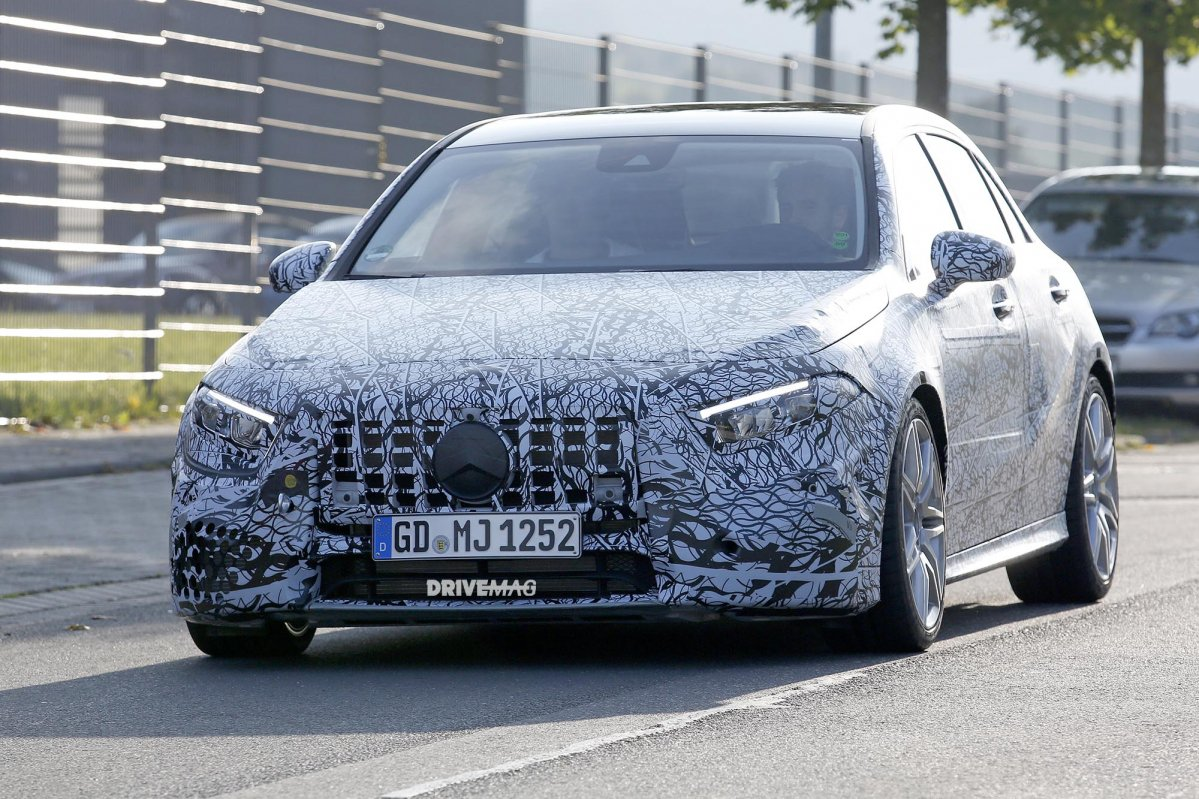 Future Mercedes-AMG A45 spied for the first time