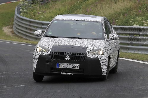 Opel Corsa Sedan first spy shots