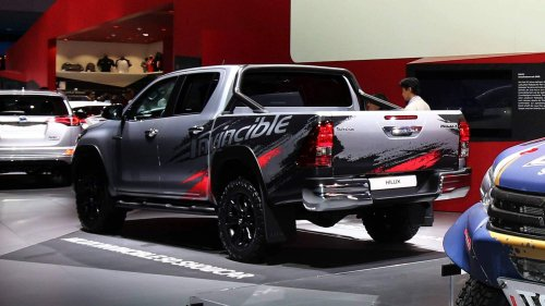 "Toyota Hilux brags about its dominance with ""Invincible 50"" package in Frankfurt"
