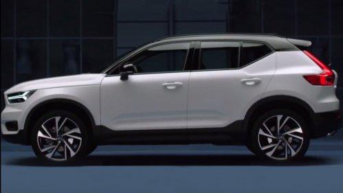 Volvo XC40 shown before reveal via leaked trailer