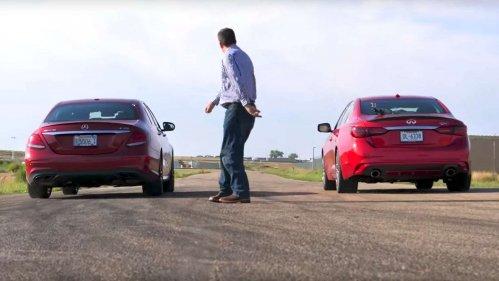 Good match making: Infiniti Q50 Red Sport vs. Mercedes-AMG E43