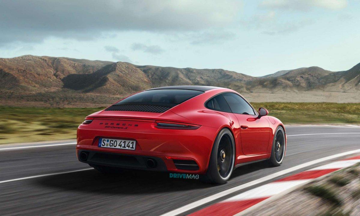 2019 Porsche 911 (992) rendered in evolutionary fashion