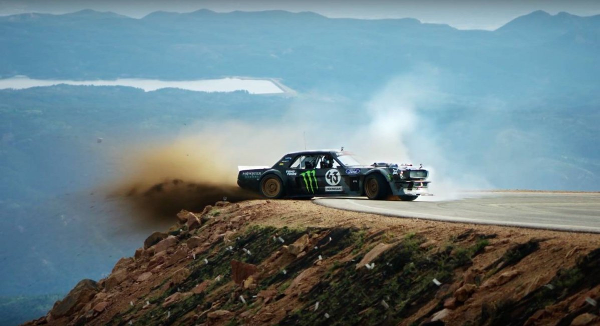 ken block goes mostly sideways yet reaches pikes peak in latest climb. Black Bedroom Furniture Sets. Home Design Ideas