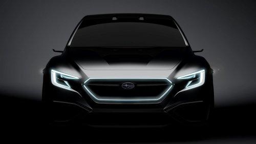 Subaru VIZIV Performance Concept sports sedan teased ahead of Tokyo debut