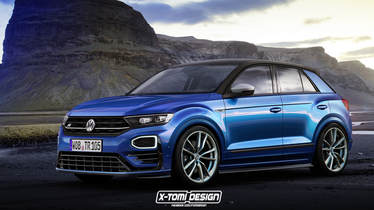 hardcore vw t roc r rendered amid recent rumors. Black Bedroom Furniture Sets. Home Design Ideas