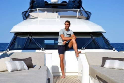 Tennis champion Rafael Nadal chooses MCY76 as his personal yacht