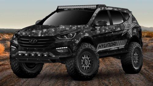 Hyundai teases Santa Fe-based extreme off-roader concept for 2017 SEMA Show