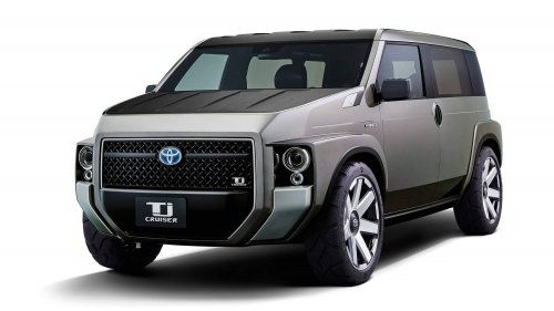 Toyota Tj Cruiser Concept is a funky-looking cross between a cargo van and an SUV