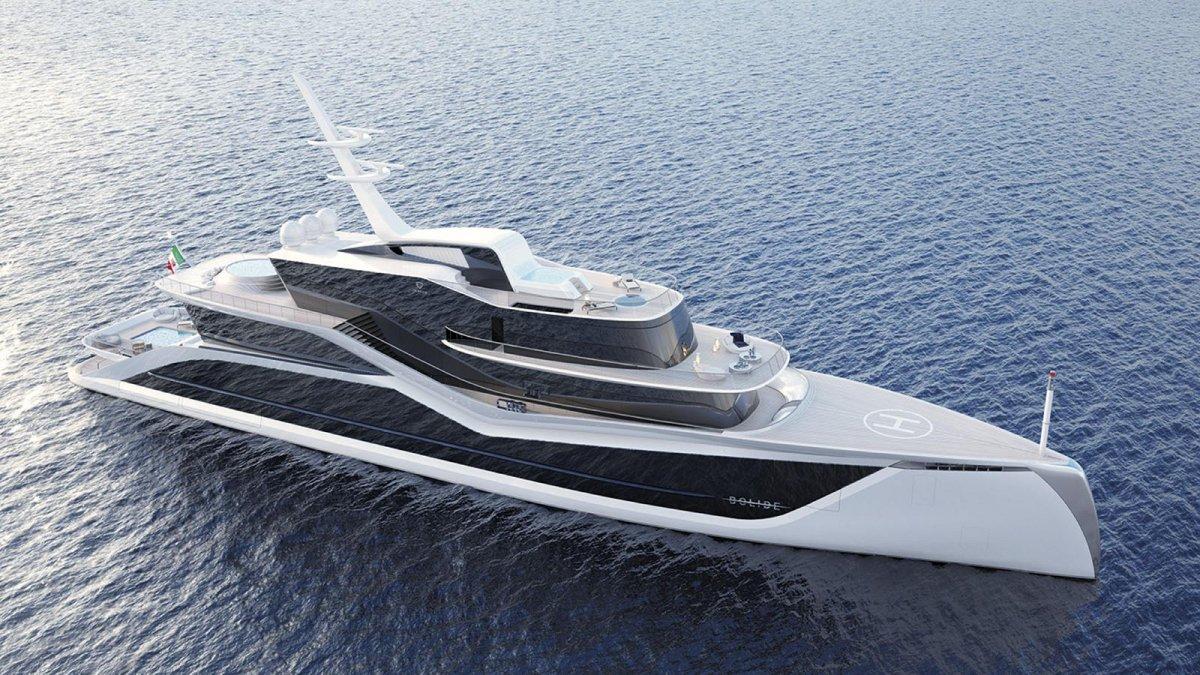 Tankoa presents the 72m Progetto Bolide concept