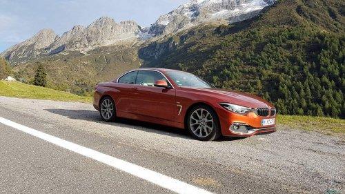 BMW 430i convertible Italian Alps 23
