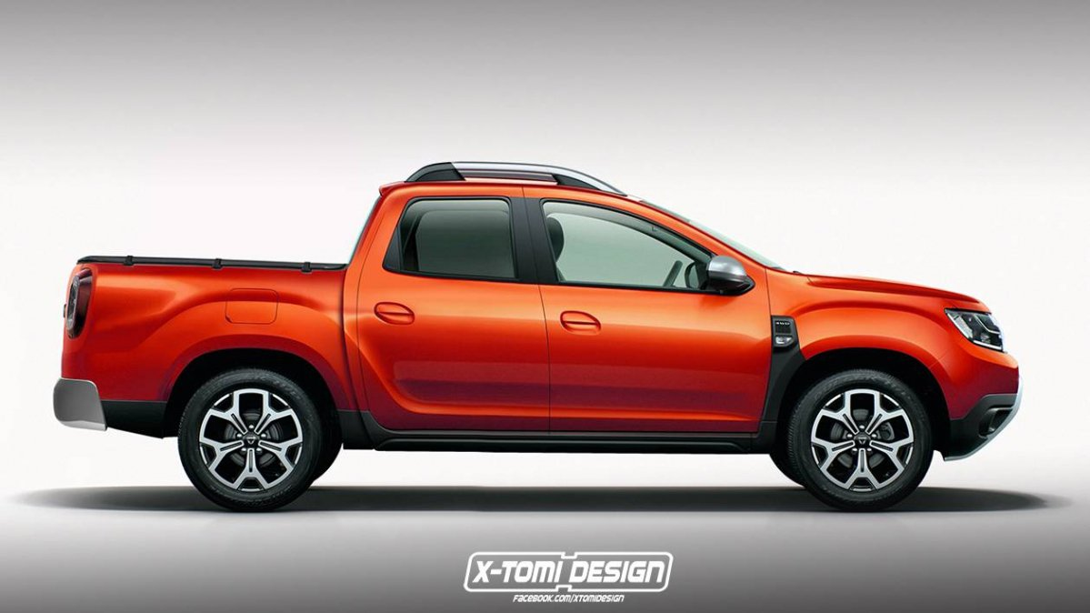 Dacia Duster Pickup Rendering 0