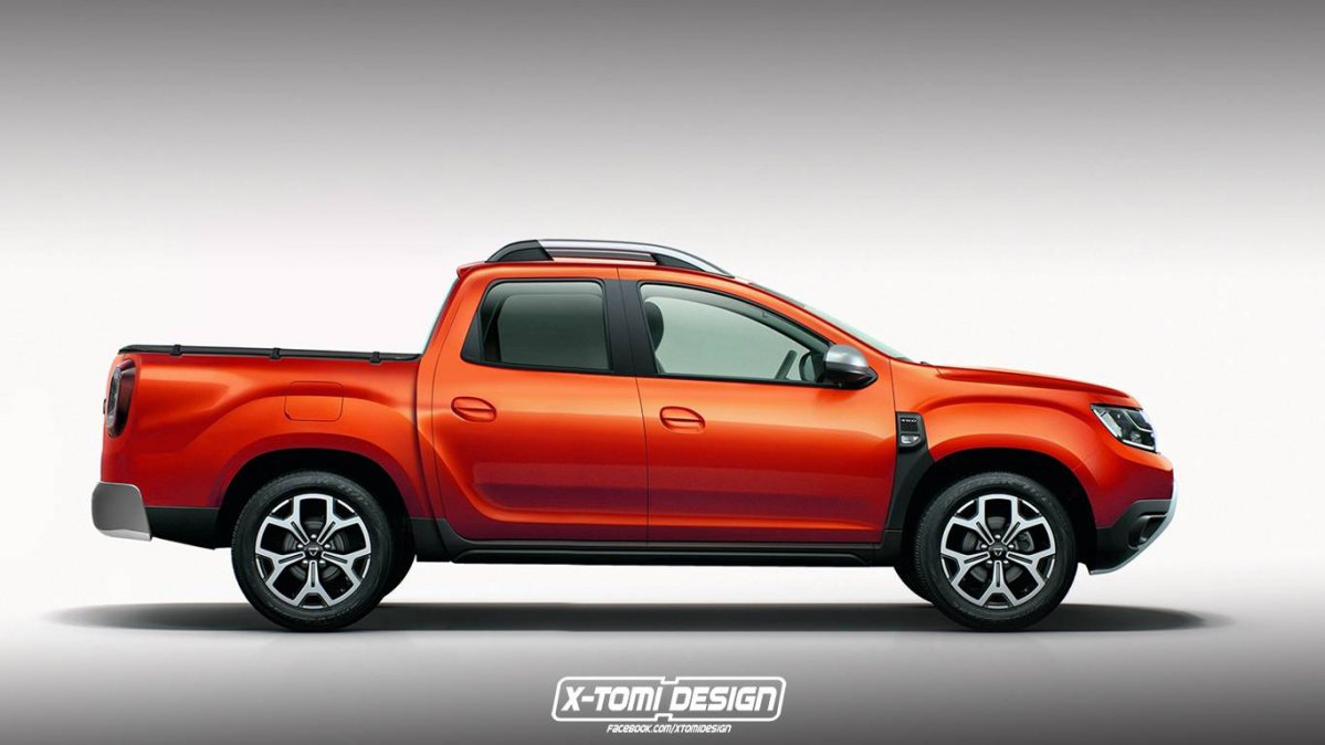 new 2017 dacia duster imagined as pickup and three door suv. Black Bedroom Furniture Sets. Home Design Ideas