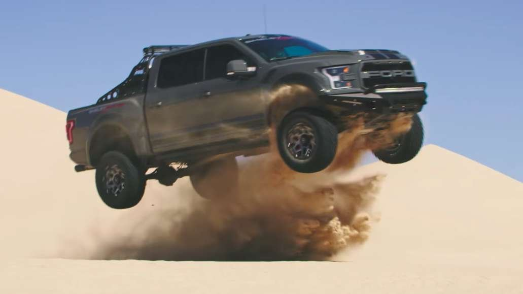 Ford F 150 Shelby >> Here's the 525+ HP Shelby Baja Raptor terrorizing sand dunes