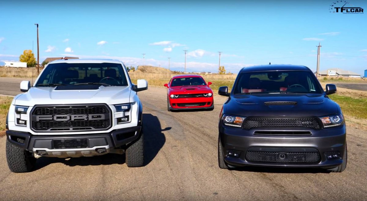 Dodge Durango SRT takes on Ford F-150 Raptor and ...