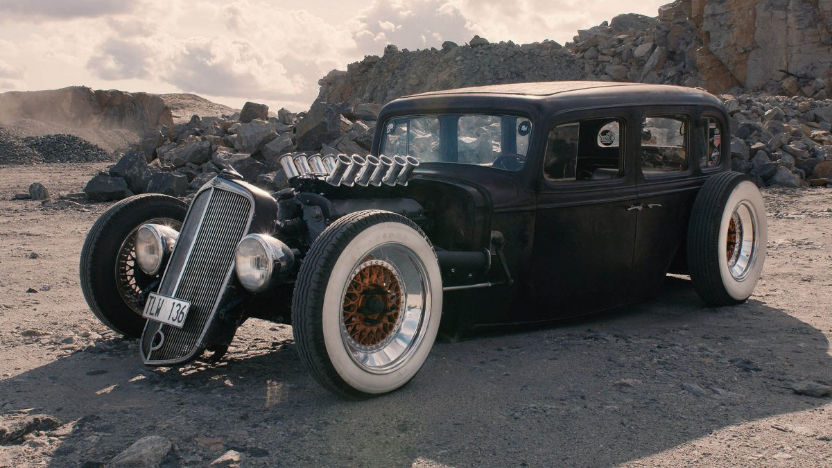 Here S A V12 1933 Chevy Hotrod Pumped With German Flair